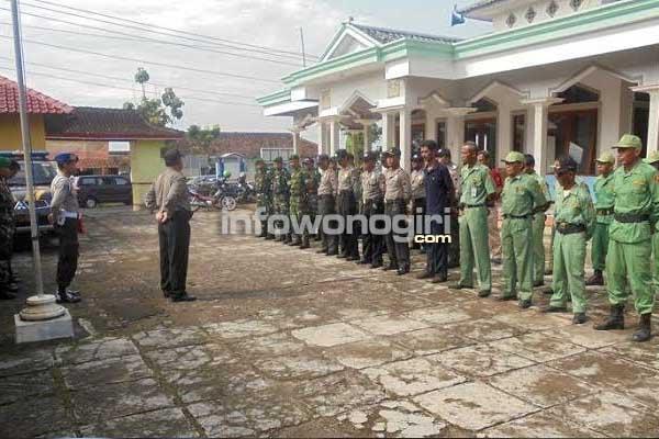Polsek Jatipurno menggelar Apel Kesiapsiagaan  Pengamanan Pilkades Desa Tawangrejo