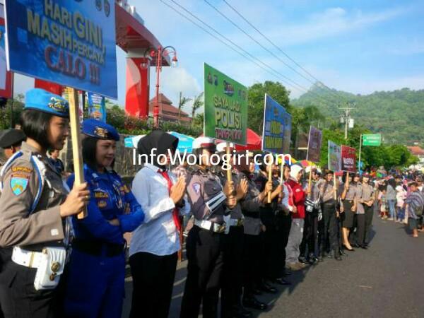 Aksi 123 Sosialisasi Penerimaan Calon Anggota Polri Polres Wonogiri